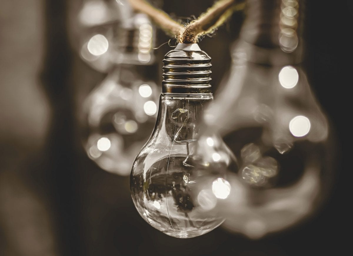 Light bulbs.