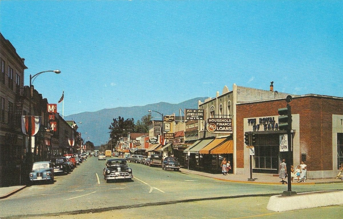 Downtown Chilliwack 1957