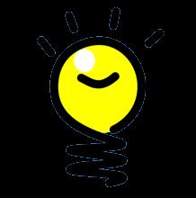 Happy idea bulb