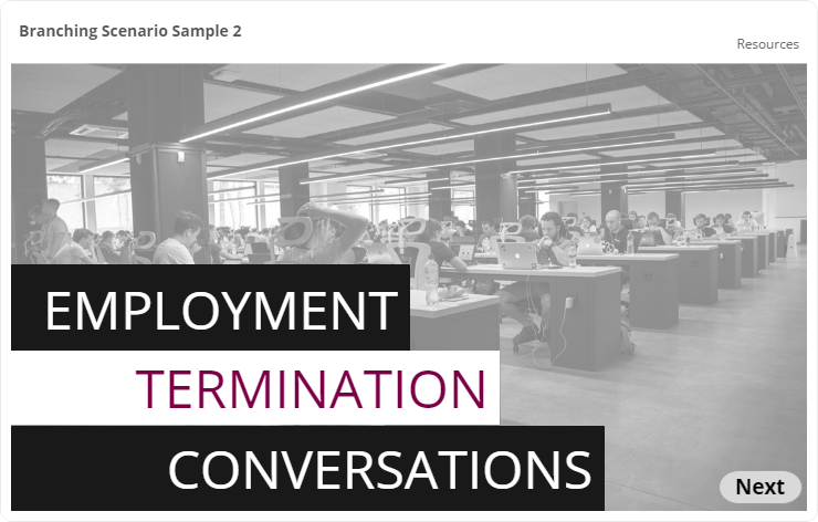 Employment Termination Conversations Title Slide